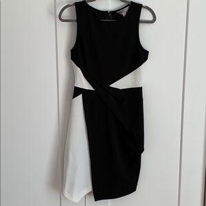 1861 Two Tone Bodycon Dress